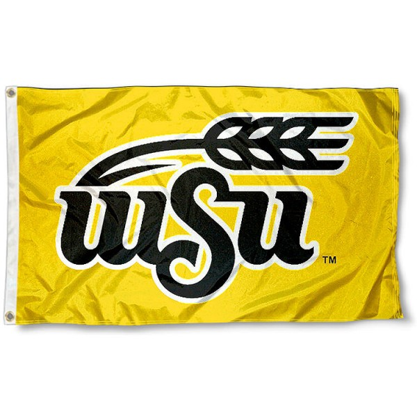 Wichita State University Flag measures 3'x5', is made of 100% poly, has quadruple stitched sewing, two metal grommets, and has double sided Wichita State University logos. Our Wichita State University Flag is officially licensed by the selected university and the NCAA