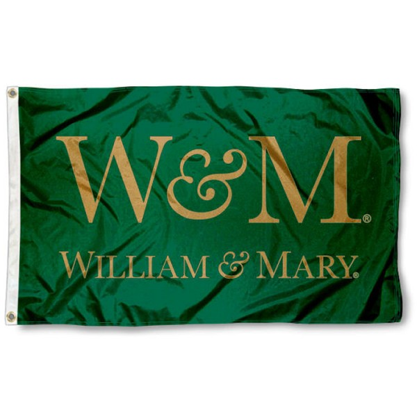 This William & Mary Tribe Flag measures 3'x5', is made of 100% nylon, has quad-stitched sewn flyends, and has two-sided William & Mary Tribe printed logos. Our William & Mary Tribe Flag is officially licensed and all flags for William & Mary Tribe are approved by the NCAA and Same Day UPS Express Shipping is available.