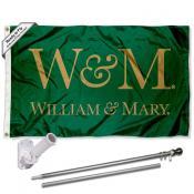 William & Mary Tribe Flag Pole and Bracket Kit