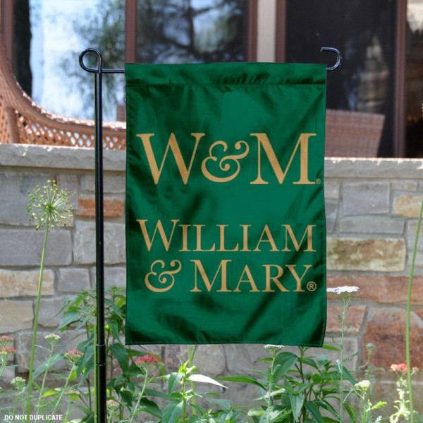 William & Mary Tribe Garden Flag is 13x18 inches in size, is made of 2-layer polyester, screen printed William & Mary Tribe athletic logos and lettering. Available with Same Day Express Shipping, Our William & Mary Tribe Garden Flag is officially licensed and approved by William & Mary Tribe and the NCAA.