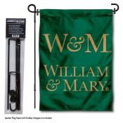 William & Mary Tribe Garden Flag and Pole Stand Holder