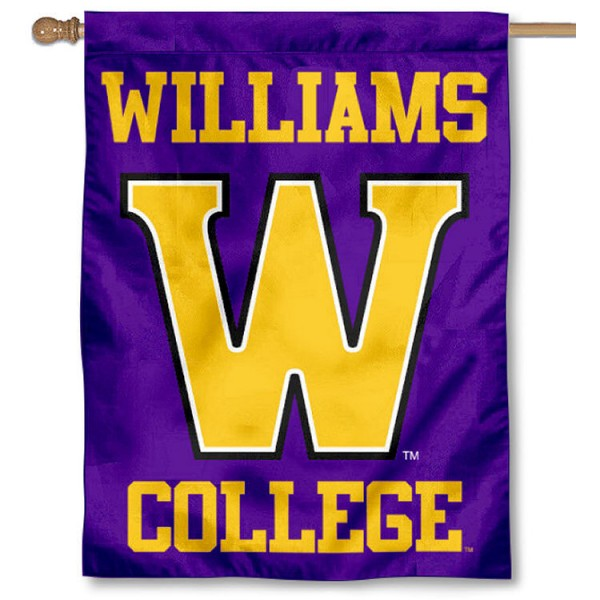 Williams College Ephs House Flag is a vertical house flag which measures 30x40 inches, is made of 2 ply 100% polyester, offers screen printed NCAA team insignias, and has a top pole sleeve to hang vertically. Our Williams College Ephs House Flag is officially licensed by the selected university and the NCAA.
