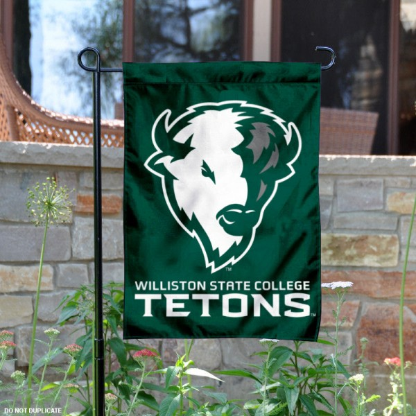 Williston State College Garden Flag is 13x18 inches in size, is made of 2-layer polyester, screen printed university athletic logos and lettering, and is readable and viewable correctly on both sides. Available same day shipping, our Williston State College Garden Flag is officially licensed and approved by the university and the NCAA.