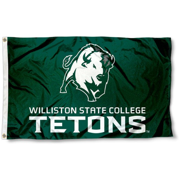 Williston State Tetons Flag measures 3x5 feet, is made of 100% polyester, offers quadruple stitched flyends, has two metal grommets, and offers screen printed NCAA team logos and insignias. Our Williston State Tetons Flag is officially licensed by the selected university and NCAA.