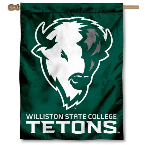 Williston State Tetons House Flag is a vertical house flag which measures 30x40 inches, is made of 2 ply 100% polyester, offers screen printed NCAA team insignias, and has a top pole sleeve to hang vertically. Our Williston State Tetons House Flag is officially licensed by the selected university and the NCAA.