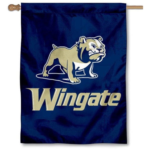 Wingate Bulldogs House Flag is a vertical house flag which measures 30x40 inches, is made of 2 ply 100% polyester, offers screen printed NCAA team insignias, and has a top pole sleeve to hang vertically. Our Wingate Bulldogs House Flag is officially licensed by the selected university and the NCAA.