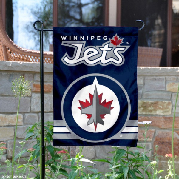 Winnipeg Jets Garden Flag is 12.5x18 inches in size, is made of 2-ply polyester, and has two sided screen printed logos and lettering. Available with Express Next Day Ship, our Winnipeg Jets Garden Flag is NHL Officially Licensed and is double sided.