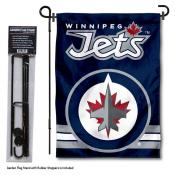 Winnipeg Jets Garden Flag and Flagpole Stand
