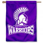 Winona State Warriors Logo Double Sided House Flag