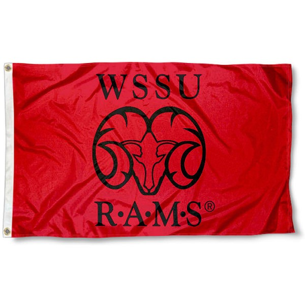 Winston Salem State Rams Flag measures 3x5 feet, is made of 100% polyester, offers quadruple stitched flyends, has two metal grommets, and offers screen printed NCAA team logos and insignias. Our Winston Salem State Rams Flag is officially licensed by the selected university and NCAA.