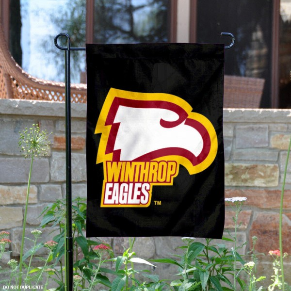 Winthrop Eagles Garden Flag is 13x18 inches in size, is made of 2-layer polyester, screen printed Winthrop Eagles athletic logos and lettering. Available with Same Day Express Shipping, Our Winthrop Eagles Garden Flag is officially licensed and approved by Winthrop Eagles and the NCAA.