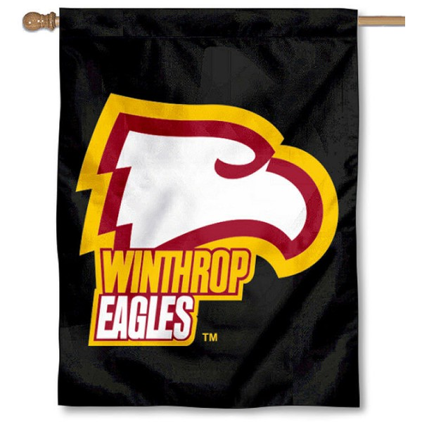 Winthrop Eagles House Flag is a vertical house flag which measures 30x40 inches, is made of 2 ply 100% polyester, offers dye sublimated NCAA team insignias, and has a top pole sleeve to hang vertically. Our Winthrop Eagles House Flag is officially licensed by the selected university and the NCAA