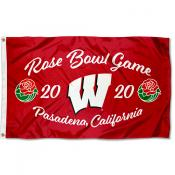 Wisconsin Badgers 2020 Rose Bowl Game Flag