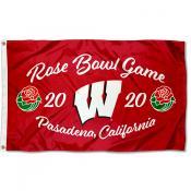 Wisconsin Badgers 2020 Rose Bowl Game Flag