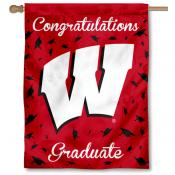 Wisconsin Badgers Congratulations Graduate Flag