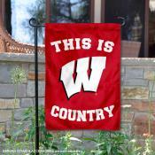 Wisconsin Badgers Country Garden Flag