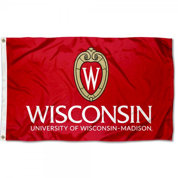 Wisconsin Badgers Crest Flag measures 3x5 feet, is made of 100% polyester, offers quadruple stitched flyends, has two metal grommets, and offers screen printed NCAA team logos and insignias. Our Wisconsin Badgers Crest Flag is officially licensed by the selected university and NCAA.