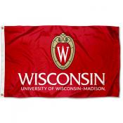 Wisconsin Badgers Crest Flag