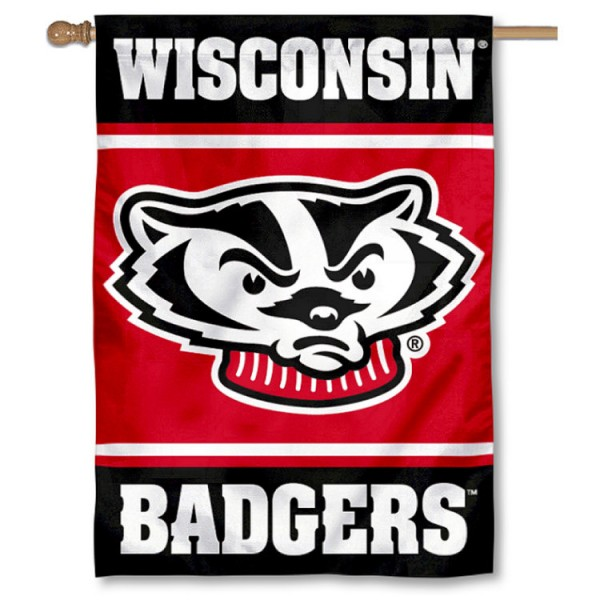 Wisconsin Badgers Double Sided Banner is a vertical house flag which measures 28x40 inches, is made of 2 ply 100% nylon, offers screen printed NCAA team insignias, and has a top pole sleeve to hang vertically. Our Wisconsin Badgers Double Sided Banner is officially licensed by the selected university and the NCAA.