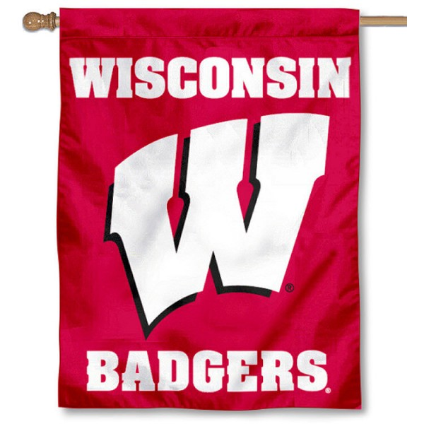 Wisconsin Badgers Double Sided House Flag is a vertical house flag which measures 30x40 inches, is made of 2 ply 100% polyester, offers dye sublimated NCAA team insignias, and has a top pole sleeve to hang vertically. Our Wisconsin Badgers Double Sided House Flag is officially licensed by the selected university and the NCAA.