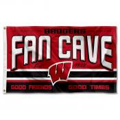 Wisconsin Badgers Fan Man Cave Game Room Banner Flag