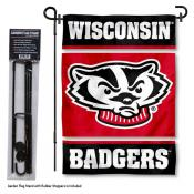 Wisconsin Badgers Garden Flag and Stand