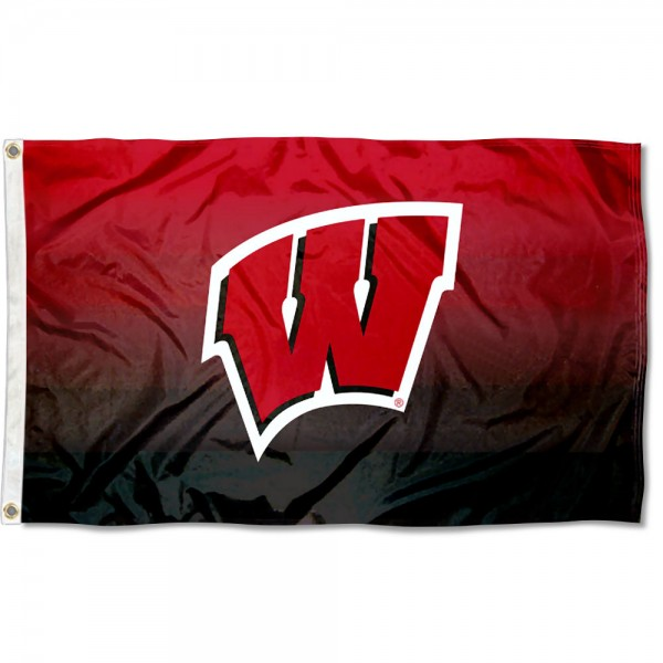 Wisconsin Badgers Gradient Ombre Flag measures 3x5 feet, is made of 100% polyester, offers quadruple stitched flyends, has two metal grommets, and offers screen printed NCAA team logos and insignias. Our Wisconsin Badgers Gradient Ombre Flag is officially licensed by the selected university and NCAA.