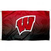 Wisconsin Badgers Gradient Ombre Flag