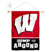 Wisconsin Badgers Jump Around Banner with Suction Cup