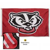 Wisconsin Badgers Nylon Embroidered Flag