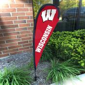 Wisconsin Badgers Small Feather Flag