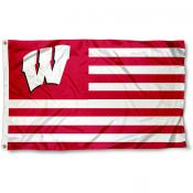 Wisconsin Badgers Striped Flag