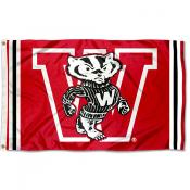 Wisconsin Badgers Throwback Vault Logo Flag