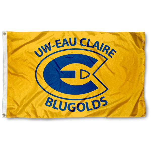 Wisconsin Eau Claire Blugolds Flag is made of 100% nylon, offers quad stitched flyends, measures 3x5 feet, has two metal grommets, and is viewable from both side with the opposite side being a reverse image. Our Wisconsin Eau Claire Blugolds Flag is officially licensed by the selected college and NCAA