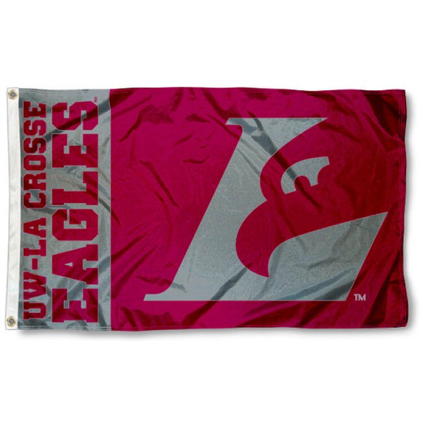 Wisconsin-LaCrosse Eagles Nylon Flag measures 3x5 feet, is made of 100% nylon, offers quadruple stitched flyends, has two brass grommets, and offers screen printed NCAA team logos and insignias. Our Wisconsin-LaCrosse Eagles Nylon Flag is officially licensed by the selected university and NCAA.