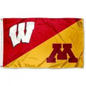 Wisconsin vs Minnesota House Divided 3x5 Flag