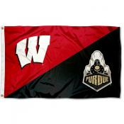 Wisconsin vs Purdue House Divided 3x5 Flag