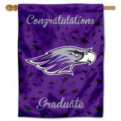 Wisconsin Whitewater Warhawks Congratulations Graduate Flag