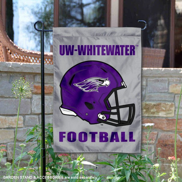 Wisconsin Whitewater Warhawks Helmet Yard Garden Flag is 13x18 inches in size, is made of 2-layer polyester with Liner, screen printed university athletic logos and lettering, and is readable and viewable correctly on both sides. Available same day shipping, our Wisconsin Whitewater Warhawks Helmet Yard Garden Flag is officially licensed and approved by the university and the NCAA.