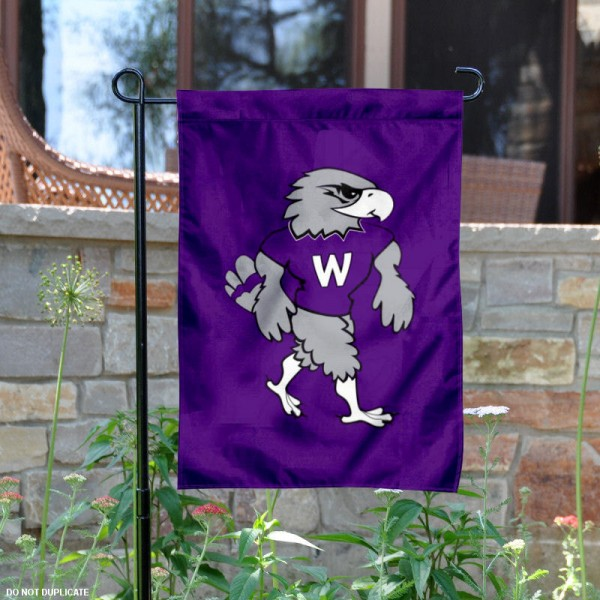 Wisconsin Whitewater Willie Mascot Garden Flag is 13x18 inches in size, is made of 2-layer polyester, screen printed University of Wisconsin Whitewater athletic logos and lettering. Available with Same Day Express Shipping, Our Wisconsin Whitewater Willie Mascot Garden Flag is officially licensed and approved by University of Wisconsin Whitewater and the NCAA.