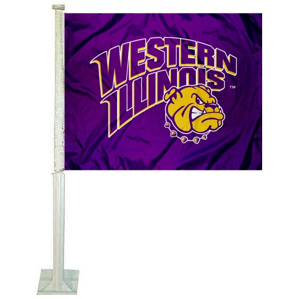 WIU Leathernecks Car Window Flag measures 12x15 inches, is constructed of sturdy 2 ply polyester, and has dye sublimated school logos which are readable and viewable correctly on both sides. WIU Leathernecks Car Window Flag is officially licensed by the NCAA and selected university.