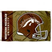 WMU Broncos Football Helmet Flag