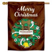 WMU Broncos Happy Holidays Banner Flag