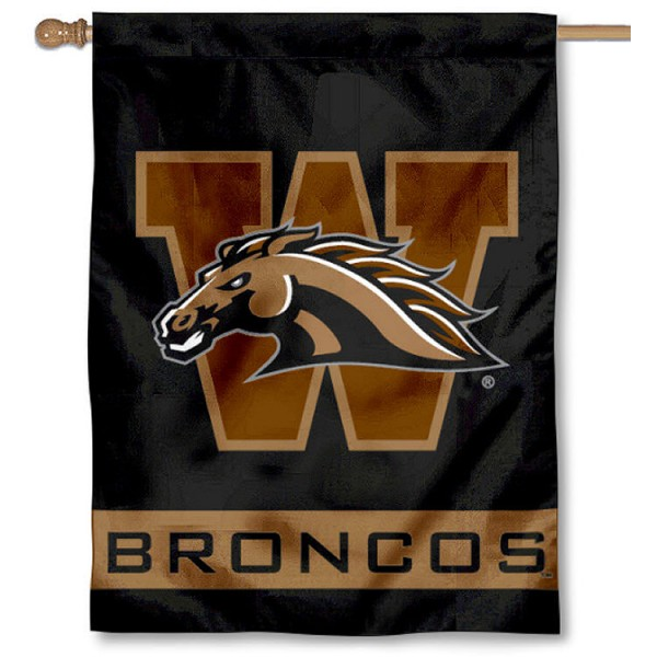 WMU Broncos Logo House Flag is a vertical house flag which measures 30x40 inches, is made of 2 ply 100% polyester, offers dye sublimated NCAA team insignias, and has a top pole sleeve to hang vertically. Our WMU Broncos Logo House Flag is officially licensed by the selected university and the NCAA.