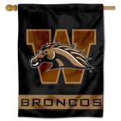 WMU Broncos Logo House Flag