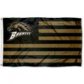 WMU Broncos Stripes Flag