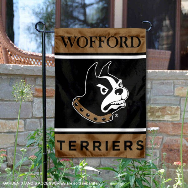 Wofford Terriers Garden Flag is 13x18 inches in size, is made of 2-layer polyester, screen printed logos and lettering. Available with Same Day Express Shipping, Our Wofford Terriers Garden Flag is officially licensed and approved by the NCAA.