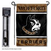 Wofford Terriers Garden Flag and Pole Stand Holder