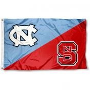 Wolfpack vs. Tar Heels House Divided 3x5 Flag