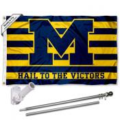 Wolverines Hail to the Victors Flag Pole and Bracket Kit